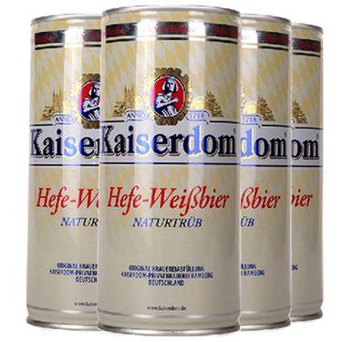 Kaiserdom凯撒啤酒 德国啤酒 进口啤酒 德国啤酒 小麦白啤酒 1L *4听装