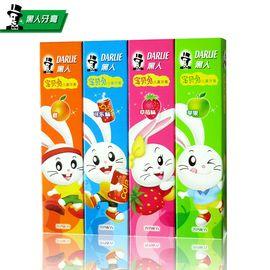 黑人 宝贝兔儿童牙膏40g*2+宝贝兔牙刷*1 4款任选 清新口气 防蛀固齿
