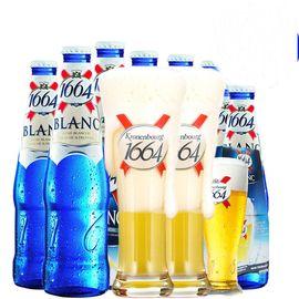 福佳 凯旋1664啤酒 小麦白啤酒 克伦堡瓶装啤酒250ml*24瓶整箱装
