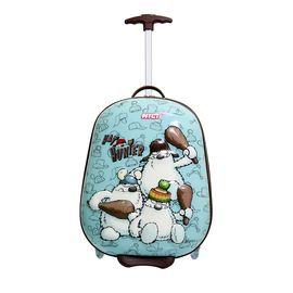 NICI 帽子猎人3D儿童拉杆箱17寸万向轮静音拉杆箱行李箱NQ21227