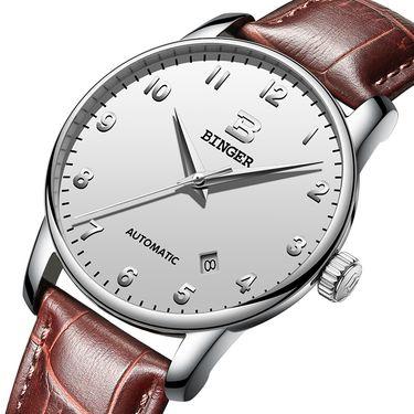 宾格 (BINGER)手表男表全自动机械表男士手表商务休闲简约防水