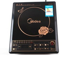 美的MIDEA  电磁炉HK2002黑晶面板炒菜火锅炉按键家用特价