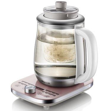 小熊(Bear)养生壶 多功能迷你煮茶壶 玻璃电水壶养身燕窝煲0.8L YSH-A08G1