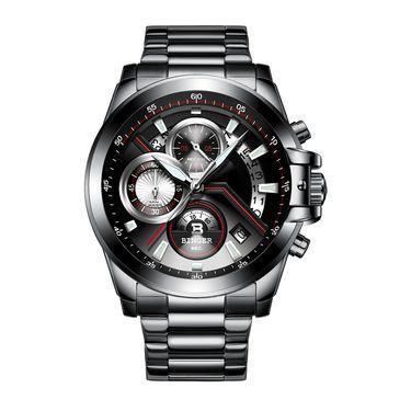 宾格 (BINGER)手表男士石英表男表个性多功能男士手表