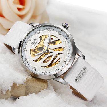 尼尚 (Nesun)女士手表 时尚潮流天鹅镂空女表防水 女士腕表