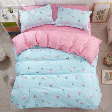 馨乐屋 乐肤棉四件套 床上用品 15色可选 适合1.5米床-1.8米床