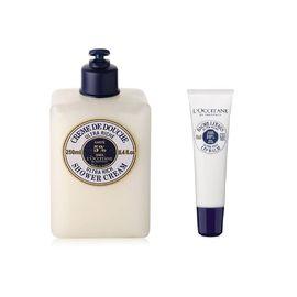 欧舒丹 (L'OCCITANE)乳木果保湿润唇膏12ml+乳木果丰凝沐浴洗发乳250ml