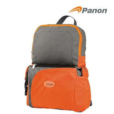 攀能 Panon PN-2516 时尚橙色双肩包挎包两用包 背包