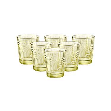 BORMIOLI ROCCO 【意大利进口】凯旋玻璃水杯果汁杯牛奶杯茶杯黄绿色295ml*6只
