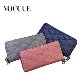 VOCCUE女士钱包长款拉链手拿包大钞夹韩版女式新款