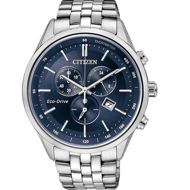 西铁城 (CITIZEN)手表 光动能 不锈钢表带男表 AT2140-55L