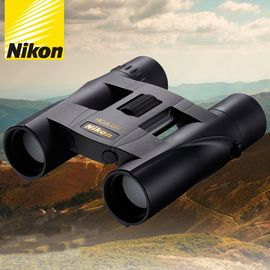尼康 Nikon 阅野ACULON A30 10x25双筒望远镜高倍高清非红外微光夜视可折叠小巧便携儿童成人望眼镜 黑色