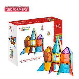 NEOFORMERS 贝磁 120件磁力片费雪同品质百变提拉拼图结构逻辑积木磁力彩窗建构片玩具