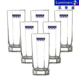 乐美雅 (Luminarc)八角直身玻璃水杯 320ml 5876