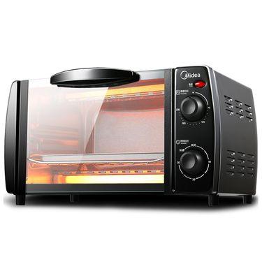 美的MIDEA T1-L101B 多功能迷你电烤箱家用烘焙蛋糕烧烤架T1-108B小容量10L