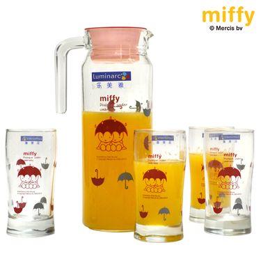 乐美雅 【限量版】强化玻璃杯玻璃壶耐高温米菲尼德兰一壶四杯组 MF-G6626