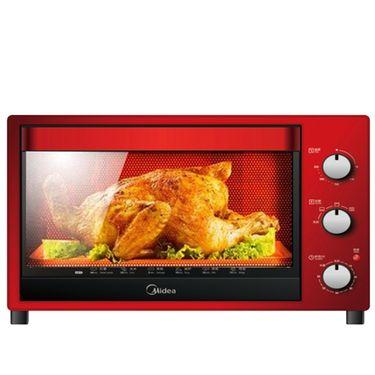 美的MIDEA  多功能电烤箱T3-321C红色大容量32升旋转发酵多功能电烤箱