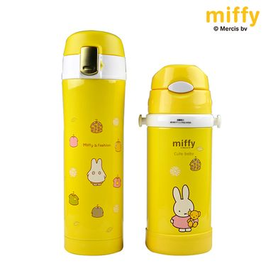 MIFFY米菲  真空保温杯女士/儿童保温杯水杯 304不锈钢杯子 黄色礼盒装 MF-S246