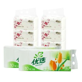 心相印 家用纸巾组合  200抽2提6包装+3层无增白剂卷纸20卷