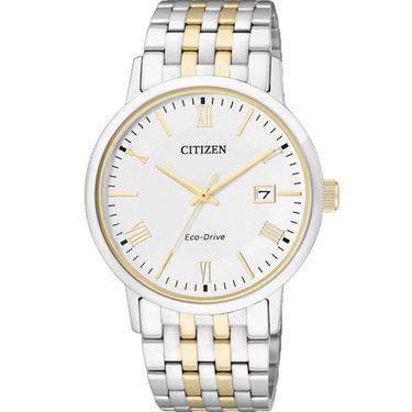 西铁城 (CITIZEN)手表 光动能 不锈钢间金色表带 情侣表男表 BM6774-51A