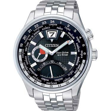 西铁城 (CITIZEN)手表 光动能 时尚钢带男表 BR0015-52E