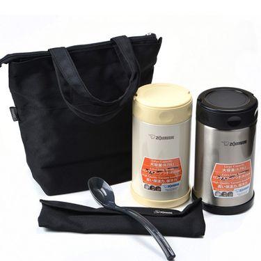 象印 SW-FBE75 不锈钢真空焖烧杯/焖烧罐/汤壶/粥壶 附餐勺及拎袋 750ML大容量