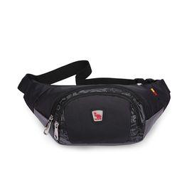 爱华仕 (OIWAS) 轻旅行系列时尚运动  休闲腰包 5277 黑色