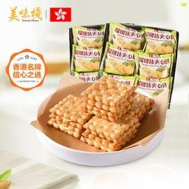 美味栈 榴莲夹心饼干 216g*2包 香港地区进口 办公室休闲零食