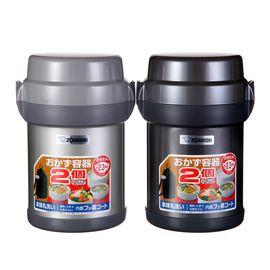 象印  SL-JAF14 不锈钢真空保温便当饭盒/四层便当罐 大容量 1.23L 附便携包