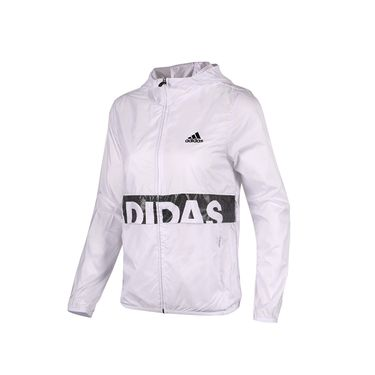 阿迪达斯 Adidas 女装 2018秋新款跑步运动服防风连帽休闲夹克外套BQ1094 奇欢体育