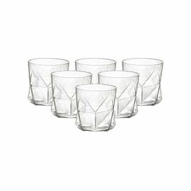 BORMIOLI ROCCO 【意大利进口】卡斯欧匹玻璃水杯家用果汁杯威士忌杯 透明330ml*6只