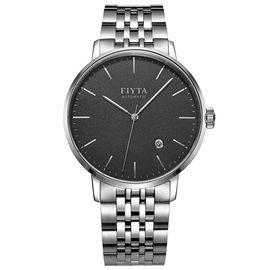 飞亚达(FIYTA) FIYTA飞亚达手表 经典系列 自动机械男表 商务经典腕表 黑盘钢带 GA802057.WBW