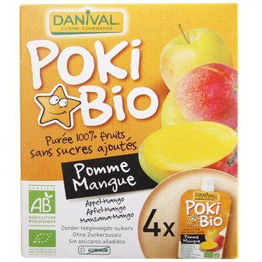 达利瓦乐 法国原装进口 Danival达利瓦乐芒果苹果果泥宝宝果泥水果儿童辅食零食90克*4袋 盒装