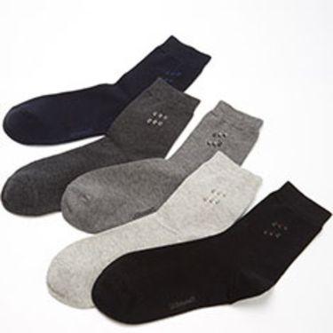 优臣品 抗菌菱形男袜中筒袜英伦风舒适礼盒5双装