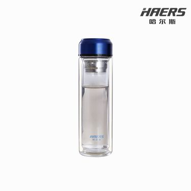 哈尔斯 风尚商务玻璃杯 双层高硼硅玻璃 350ML