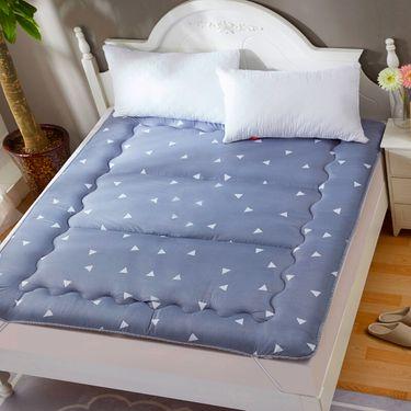 九洲鹿 家纺 印花床垫 榻榻米可折叠学生 加厚双人床褥垫子 思绪