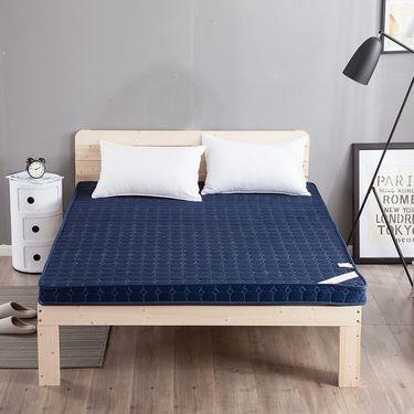 卡佩利丝 加厚记忆棉床垫床褥榻榻米床垫简约蓝(多规格可选)