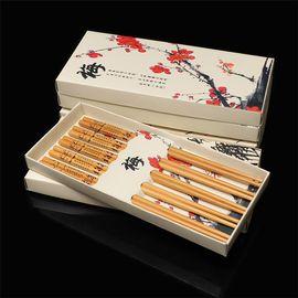 卡佩利丝/中国风竹制筷子礼品套装五双装礼品盒中式餐具/
