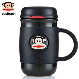 大嘴猴 (Paul Frank)保温杯 男女士商务水杯 带把手真空不锈钢杯子 340ML