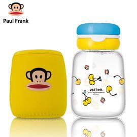 大嘴猴 (Paul Frank)玻璃杯女 可爱便携水杯 办公室花茶杯 学生儿童杯子 创意随手杯