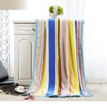 水星家纺  印花保暖珊瑚绒毯—彩虹之约(150* 200cm)
