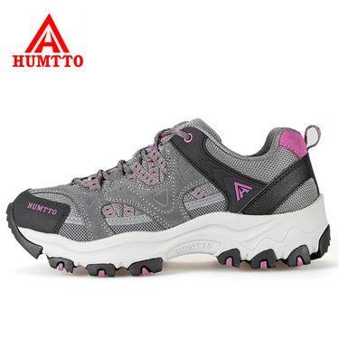 悍途/HUMTTO 轻便防滑女款徒步鞋  透气跑鞋越野运动户外登山鞋 2611