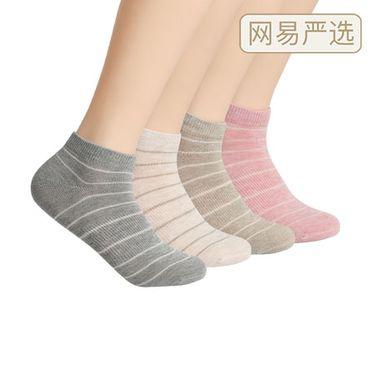 【严选】HEATMAX秋冬女式条纹船袜