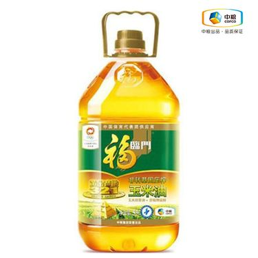 福临门 压榨玉米油 黄金产地 5L