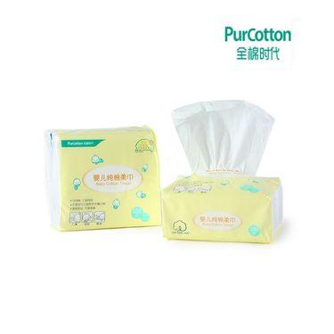 全棉时代 (PurCotton) 婴儿棉柔巾/抽纸 干湿柔巾手帕纸 10*20cm 6包/提