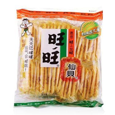 旺旺 仙贝原味旺仔旺旺仙贝105g 米饼膨化食品休闲饼干儿童小吃零食大礼包