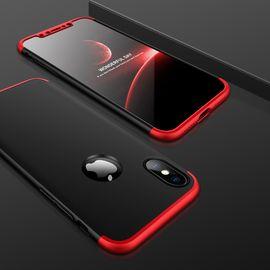 麦阿蜜 苹果X手机壳 iphonex手机壳苹果10撞色全包防摔保护磨砂硬壳男女潮款手机套