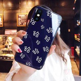 麦阿蜜 苹果x手机壳iphonex保护套10防摔钢化玻璃硬壳全包硅胶软边抖音小甜甜网红时尚男女潮流同款