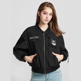 伯希和 飞行夹克女2018秋冬季时尚舒适休闲衣百搭宽松立领运动外套