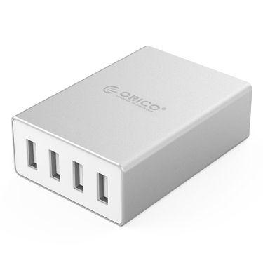 奥睿科 桌面4口USB充电器ASK-4U 银色